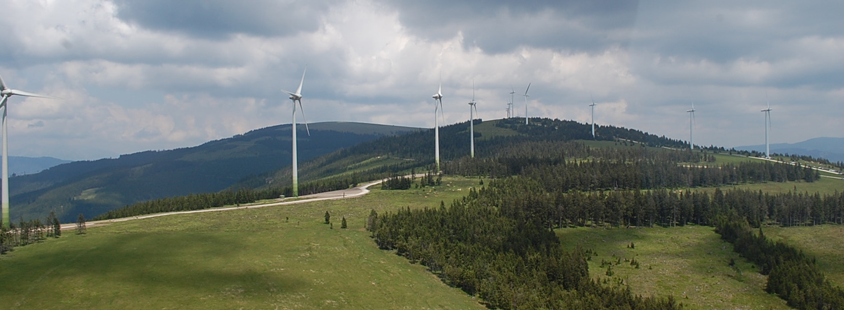 Windpark Steinriegel mit Windkraftanlagen